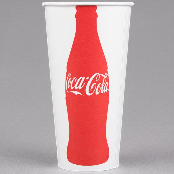 Dart Solo RNP21C-K1038 Coke® 21 oz. Poly Paper Cold Cup - 1000/Case