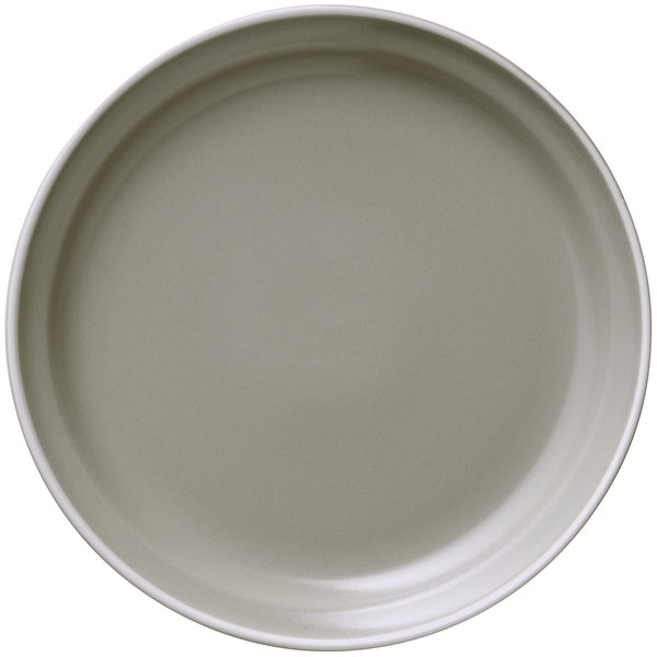"World Tableware ENG-2-C Englewood 9"" Matte Mint Cream Porcelain Plate - 24/Case"