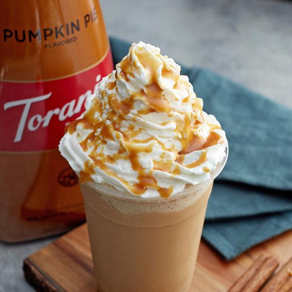 Torani 64 fl. oz. Puremade Pumpkin Pie Flavoring Sauce Main Image 2