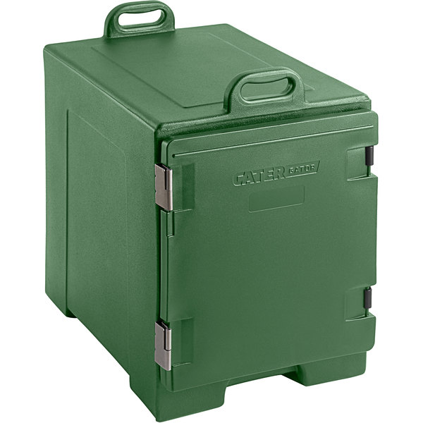 CaterGator Green Front Loading Insulated Food Pan Carrier - 5 Pan Capacity