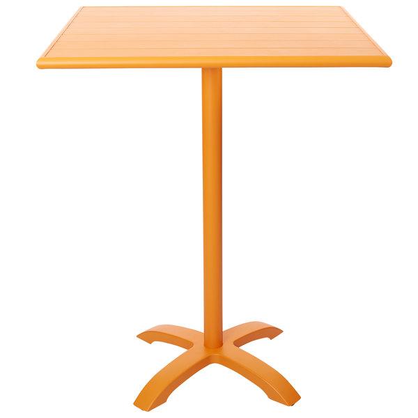 "BFM Seating PHB3636CT-2626CTT Beachcomber-Bali 36"" Square Citrus Powder Coated Aluminum Bar Height Outdoor / Indoor Table Main Image 1"