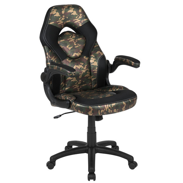 Incredible Flash Furniture Ch 00095 Cam Gg High Back Camo Leathersoft Swivel Office Chair Video Game Chair With Flip Up Arms Ocoug Best Dining Table And Chair Ideas Images Ocougorg