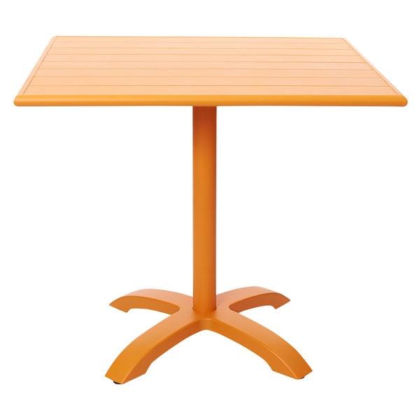 "BFM Seating PHB2432CT-2626CT Beachcomber-Bali 24"" x 32"" Citrus Powder Coated Aluminum Dining Height Outdoor / Indoor Table Main Image 1"