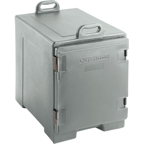 CaterGator Slate Blue Front Loading Insulated Food Pan Carrier - 5 Pan Capacity