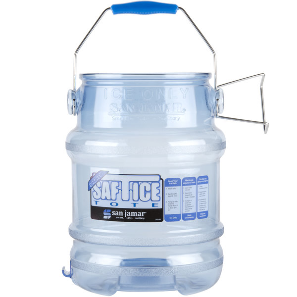 San Jamar SI6100 Shorty Saf-T-Ice 5 Gallon Ice Tote