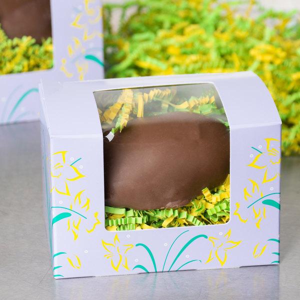 "Easter Egg Box 1/2 lb. Window Candy Box 4 5/8"" x 3 1/8"" x 3 1/8"" - 250/Case"