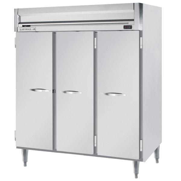 """Beverage-Air HRPS3-1S Horizon Series 78"""" Solid Door All Stainless Steel Reach-In Refrigerator"""