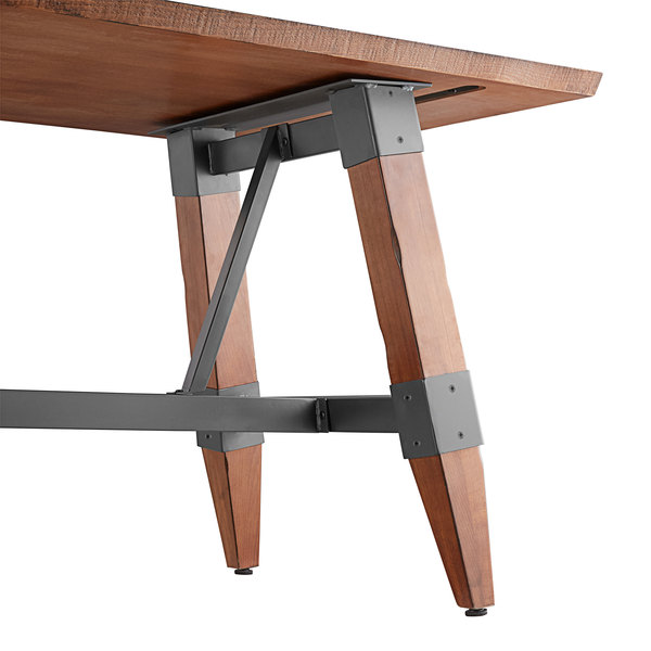 """Lancaster Table & Seating 30"""" x 72"""" Solid Wood Live Edge ..."""