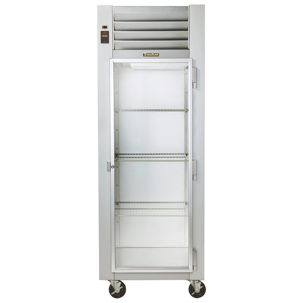 "Traulsen G11010 30"" Reach In Refrigerator with Right-Hinged Glass Door"