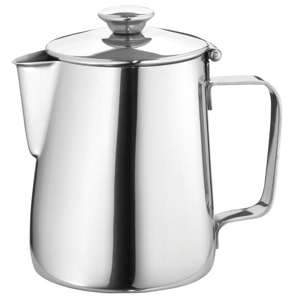 Walco 9-212 Saturn 12 oz. Stainless Steel Covered Beverage Server - 10/Case Main Image 1