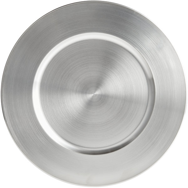 """World Tableware CPB-13 13"""" Brushed Finish Stainless Steel Charger Plate Main Image 1"""