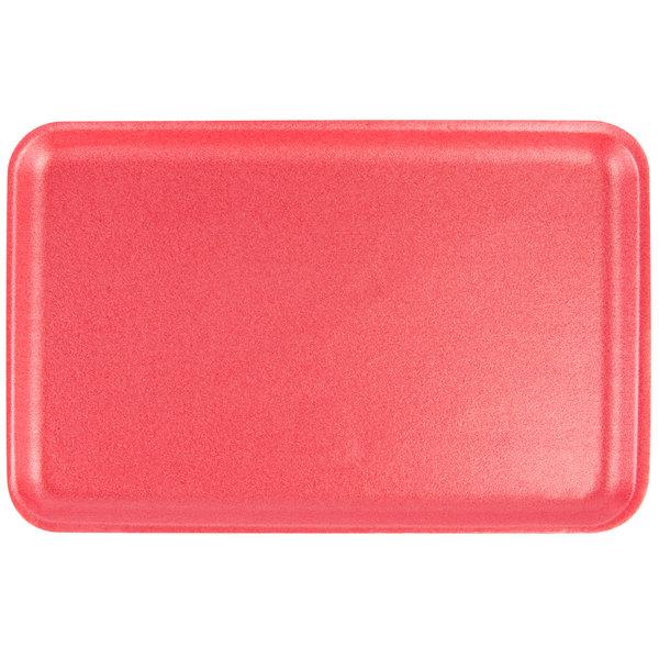 CKF 88069 (#16S) Rose Foam Meat Tray 11 3/4 inch x 7 1/2 inch x 5/8 inch - 250/Case