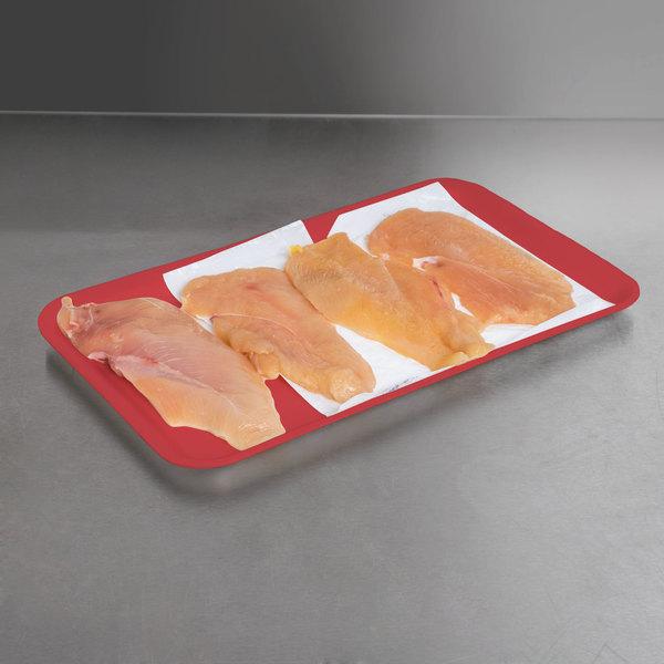"""Genpak 1016S (#16S) Foam Meat Tray Rose 12 1/4"""" x 7 1/4"""" x 1/2"""" - 250/Case"""