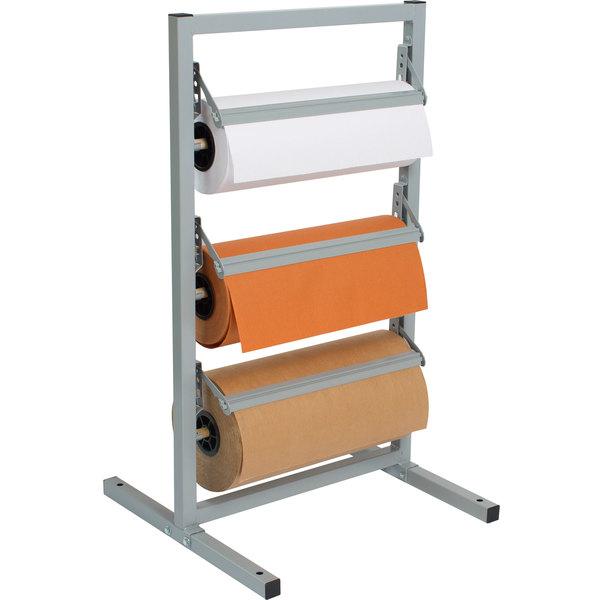 "Bulman T368R-12 12"" Three Deck Tower Paper Rack with Straight Edge Blade"