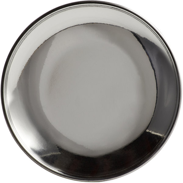 "World Tableware MD-1 4 1/2"" Stainless Steel Micro Dish Main Image 1"