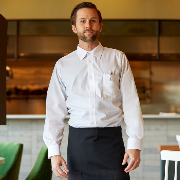 Henry Segal Men's Customizable White Long Sleeve Dress Shirt - Size XXS