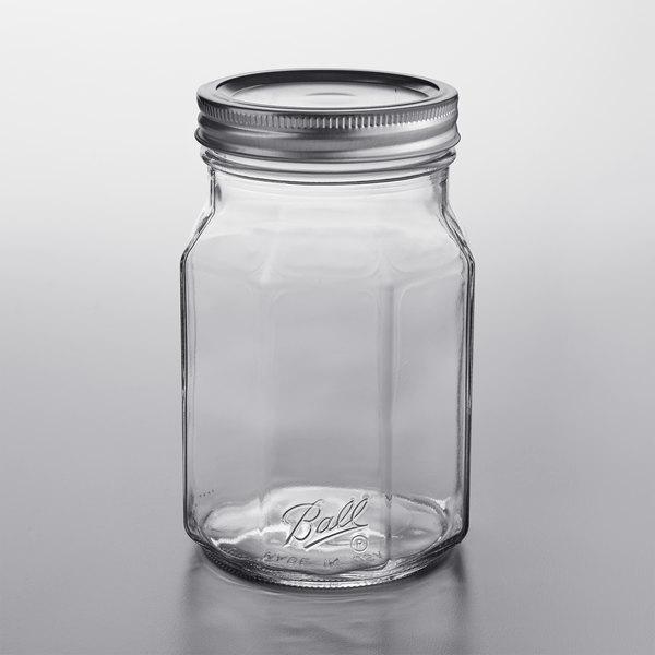 Bands Clear Glass Quart Jars 12//Box Ball 32Oz Wide Mouth Canning Mason Jar Lids