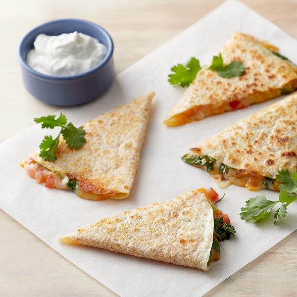 "Mission 12-Pack 10"" Fry-Ready Flour Tortillas - 16/Case"