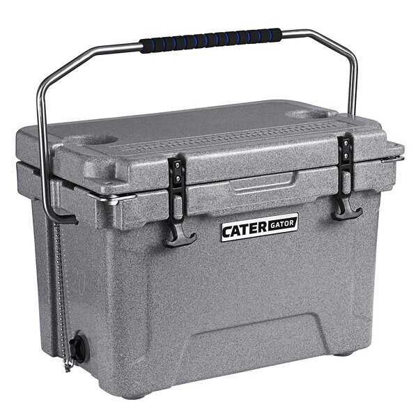 CaterGator CG20SPG Gray 20 Qt. Rotomolded Extreme Outdoor Cooler / Ice Chest Main Image 1