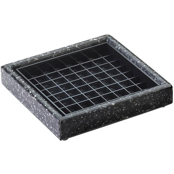 "Cal-Mil 330-6-31 6"" Black Ice Square Drip Tray"