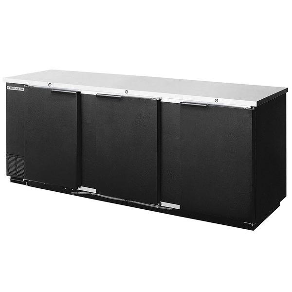 "Beverage-Air BB94HC-1-B-WINE 95"" Black Counter Height Solid Door Back Bar Wine Refrigerator Main Image 1"