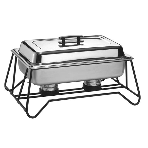 American Metalcraft SCF2 Full Size Stackable Wrought Iron Chafer Stand Main Image 1