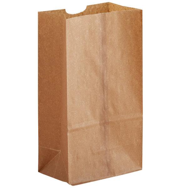 6 lb. Natural Kraft Waxed Paper Bag - 1000/Case