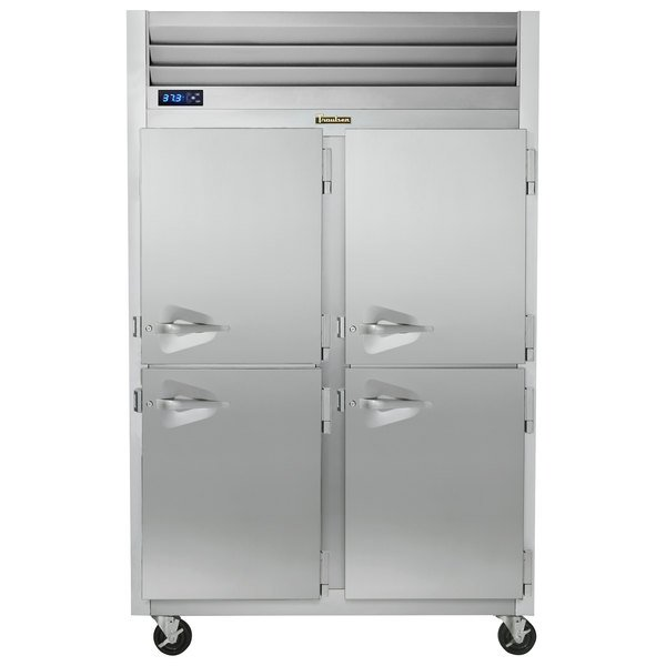 Traulsen G20007P 2 Section Solid Half Door Pass-Through Refrigerator - Right / Right Hinged Doors Main Image 1