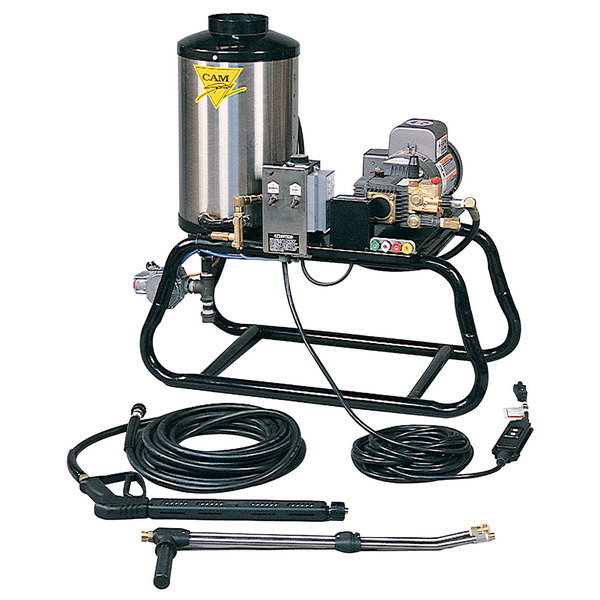Cam Spray 1000STNEF Stationary Natural Gas Fired Electric Hot Water Pressure Washer with 50' Hose - 1000 PSI; 3.0 GPM Main Image 1