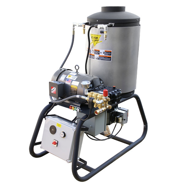 Cam Spray 3000STNEF Stationary Natural Gas Fired Electric Hot Water Pressure Washer with 50' Hose - 3000 PSI; 4.0 GPM Main Image 1