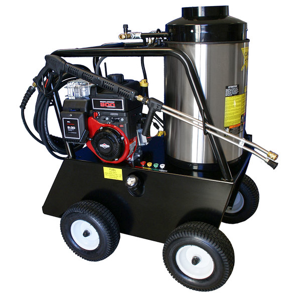 Cam Spray 2030QB Portable Gas Hot Water Pressure Washer with 50' Hose - 2000 PSI; 3.0 GPM Main Image 1