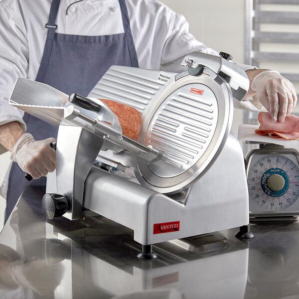 "Avantco SL312 12"" Manual Gravity Feed Meat Slicer - 1/3 hp Main Image 4"