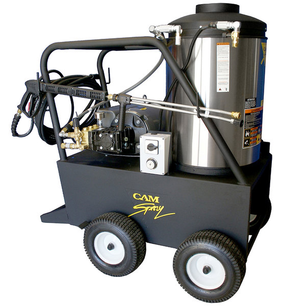 Cam Spray 3000QE Portable Electric Hot Water Pressure Washer with 50' Hose - 3000 PSI; 4.0 GPM Main Image 1