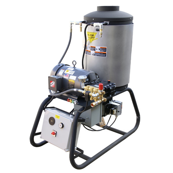 Cam Spray 2000STNEF Stationary Natural Gas Fired Electric Hot Water Pressure Washer with 50' Hose - 2000 PSI; 4.0 GPM Main Image 1