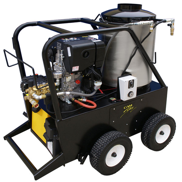 Cam Spray 3040QD Portable Diesel Hot Water Pressure Washer with 50' Hose - 3000 PSI; 4.0 GPM Main Image 1