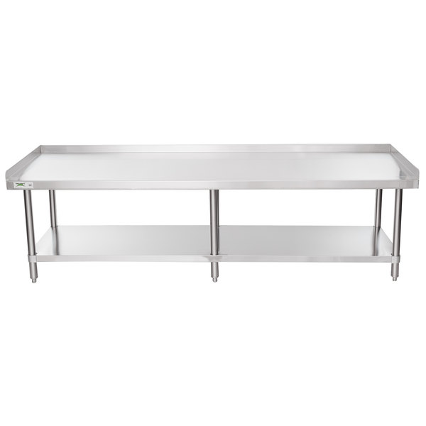 "Regency 30"" x 84"" 16-Gauge Stainless Steel Equipment Stand with Undershelf"