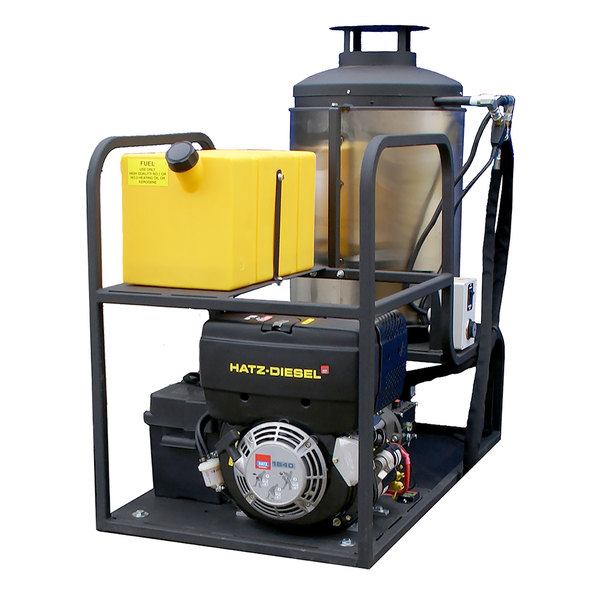 Cam Spray MCB25006D Skid Mount Diesel Hot Water Pressure Washer with 50' Hose - 2500 PSI; 3.0 GPM Main Image 1