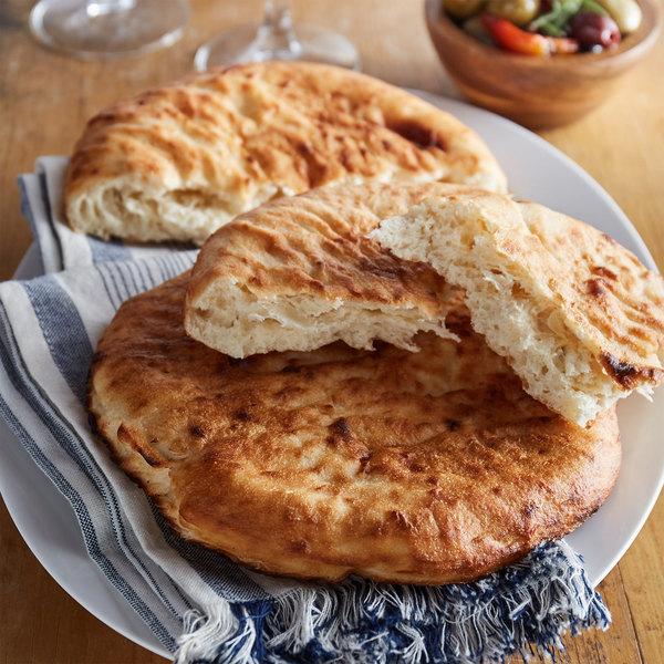 "Father Sam's Bakery 8"" White Pita Pocket Bread - 24/Case Main Image 2"
