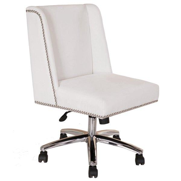 Boss B586C-WV White Decorative Task Chair