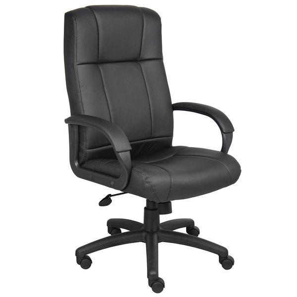 Boss B7901 Black Caressoft Executive High Back Chair Main Image 1