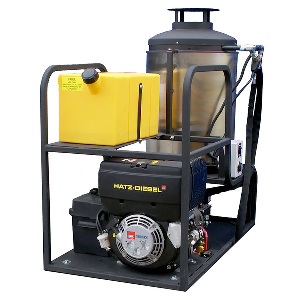 Cam Spray MCB3040D Skid Mount Diesel Hot Water Pressure Washer with 50' Hose - 3000 PSI; 4.0 GPM Main Image 1