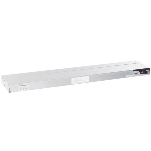 "APW Wyott FDL-48H-T 48"" High Wattage Lighted Calrod Food Warmer with Toggle Controls - 240V, 1425W"