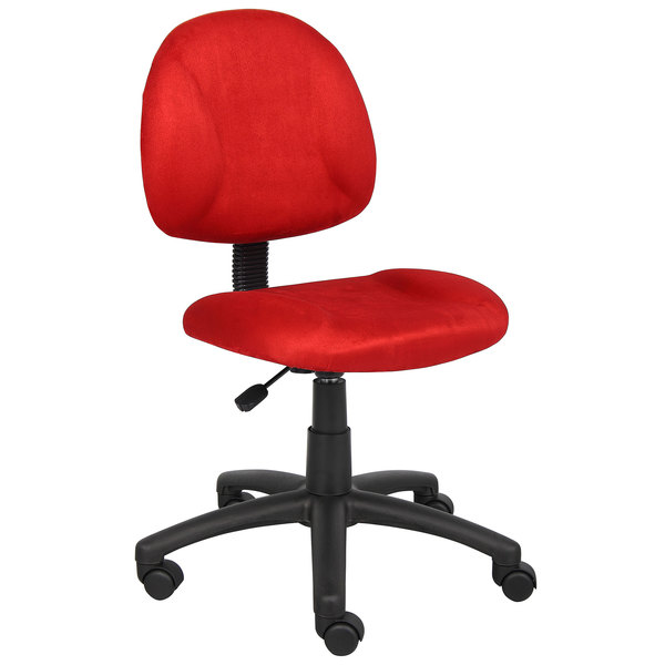 Boss B325-RD Red Microfiber Perfect Posture Deluxe Office Task Chair