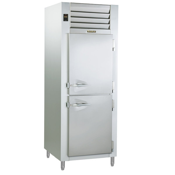 Traulsen RCV132WUT-HHS Stainless Steel One Section Half Door Reach In Convertible Freezer / Refrigerator - Specification Line
