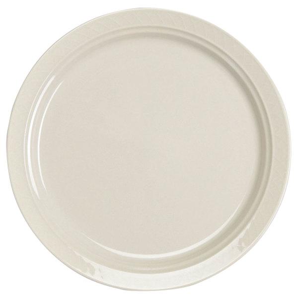 "Homer Laughlin 3477000 Gothic 9"" Ivory (American White) Narrow Rim China Plate - 24/Case"