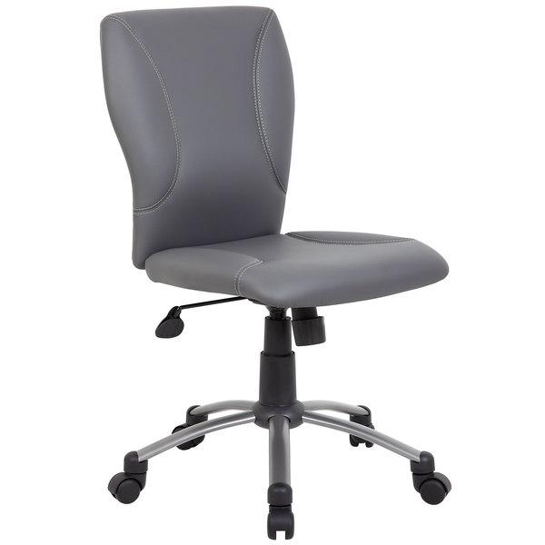 Boss B220-GY Grey CaressoftPlus Modern Tiffany Office Chair Main Image 1