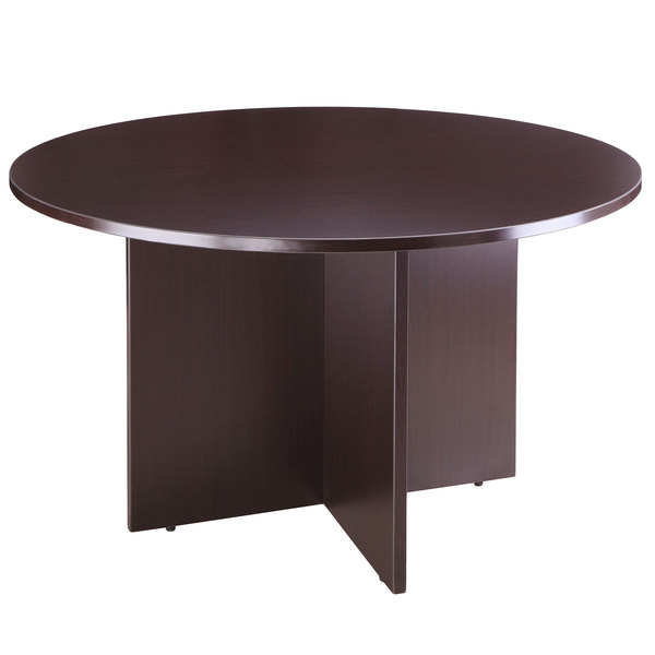 Boss N127 Moc Driftwood Laminate 42, Round Office Table