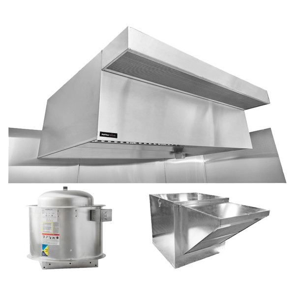 Halifax Psphp948 Type 1 9 X 48 Commercial Kitchen Hood System With Psp Makeup Air