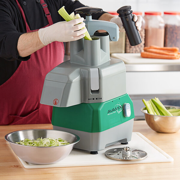 Avamix Revolution CFP342D Continuous Feed Commercial Food Processor with 2 Discs - 120V, 1 hp Main Image 5