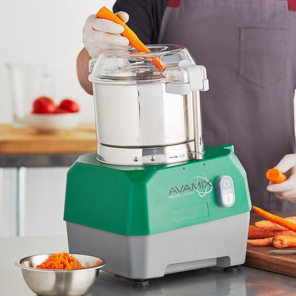 Avamix Revolution BFP34SS Commercial Food Processor with 3 Qt. Stainless Steel Bowl - 120V, 1 hp Main Image 5